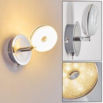 Donot Applique LED Nichel opaco, Cromo, 1-Luce