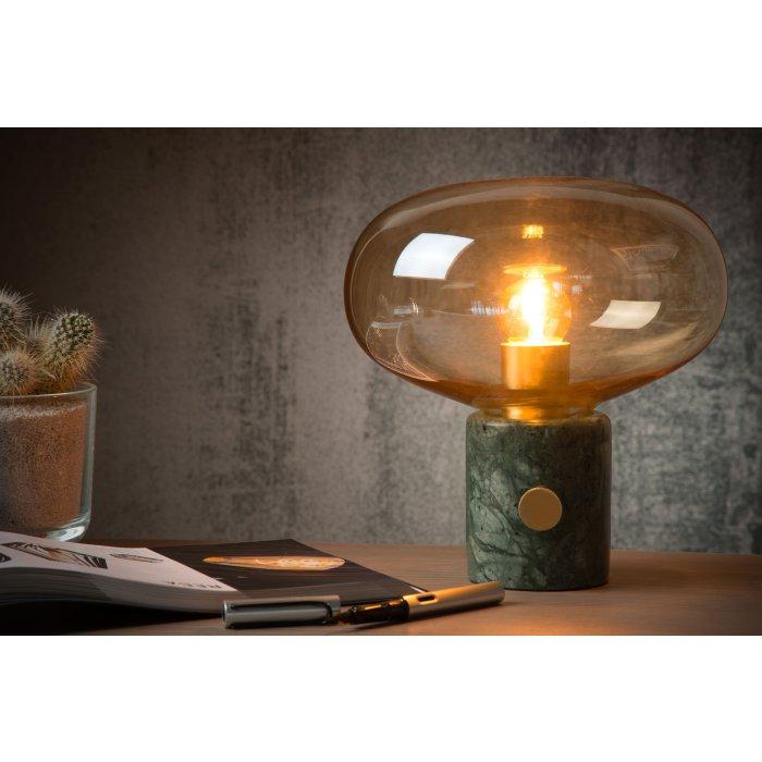 Lampada Da Tavolo Lucide Charlize Effetto Pietra Verde 03520 01 62 Lampe Shop Ch