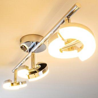 Paris Faretto da soffitto LED Cromo, 3-Luci