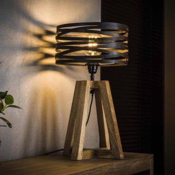 BEILEN Lampada da tavolo Legno scuro, 1-Luce