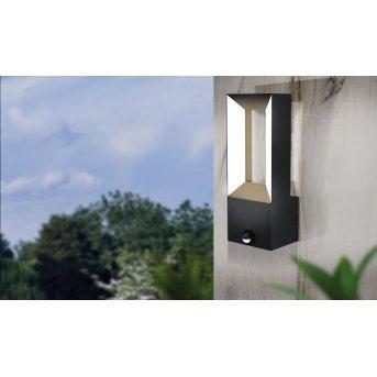 Eglo RIFORANO Applique da esterno LED Nero, 2-Luci, Sensori di movimento