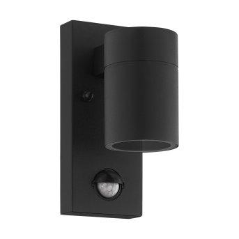 Eglo RIGA Applique da esterno LED Nero, 1-Luce, Sensori di movimento