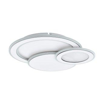 Eglo MENTALURGIA Plafoniera LED Cromo, Bianco, 1-Luce