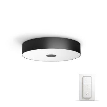 Philips Hue Ambiance White Fair Plafoniera LED Nero, 1-Luce, Telecomando