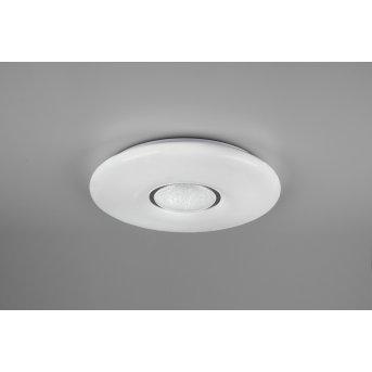 Reality Lia Plafoniera LED Bianco, 1-Luce, Cambia colore
