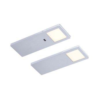 Paul Neuhaus AMON Illuminazione sottopensile LED Argento, 2-Luci, Sensori di movimento