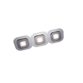Grossmann AP Plafoniera LED Grigio, Alluminio, 3-Luci