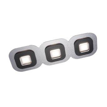 Grossmann AP Plafoniera LED Nero, Alluminio, 3-Luci