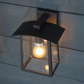 KS Verlichting Motto Applique da esterno Nero, 1-Luce