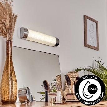 Macaje Applique LED Cromo, Trasparente, chiaro, 1-Luce