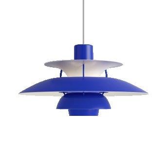 Louis Poulsen PH5 Lampada a Sospensione Bianco, Blu, 1-Luce