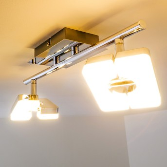 Turin Faretto da soffitto LED Cromo, 2-Luci