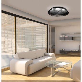 Mantra HIMALAYA ventilatore da soffitto LED Nero, 1-Luce, Telecomando