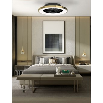 Mantra TIBET ventilatore da soffitto LED Bianco, 1-Luce, Telecomando