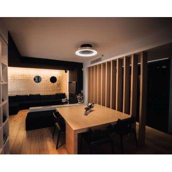 Mantra TIBET ventilatore da soffitto LED Nero, Oro, 1-Luce, Telecomando