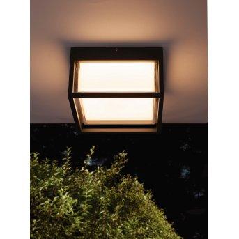 Mantra CHAMONIX Plafoniera da esterno LED Grigio, 1-Luce
