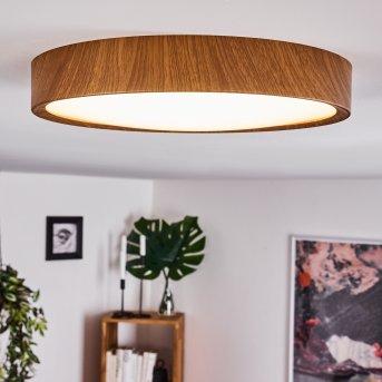 Nexo Plafoniera LED Legno scuro, 1-Luce