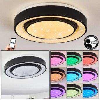 Grimacco Plafoniera LED Nero, 1-Luce, Cambia colore