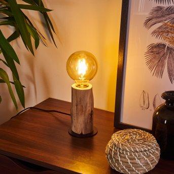 Pozos Lampada da tavolo Nero, Legno chiaro, 1-Luce