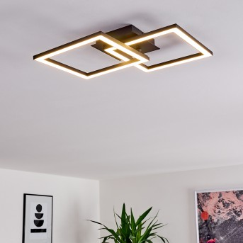 Thara Plafoniera LED Nero, 1-Luce