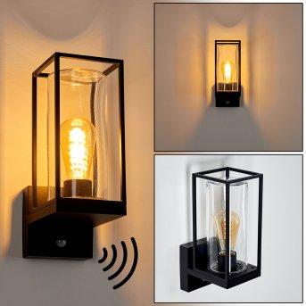 Palanga Applique da esterno Nero, 1-Luce, Sensori di movimento