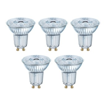 Osram 5x Set LED GU10 4,3 Watt 2700 Kelvin 350 Lumen