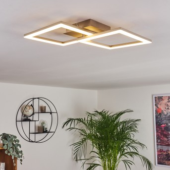 Batuna Plafoniera LED Nichel opaco, 1-Luce