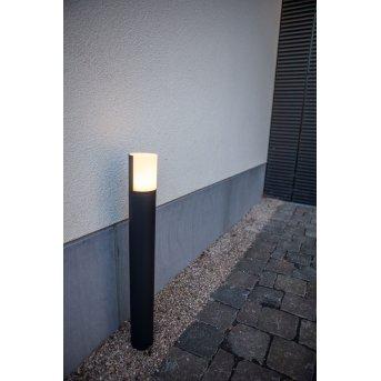 Lutec CYRA Lampioncino Segnapasso LED Nero, 1-Luce