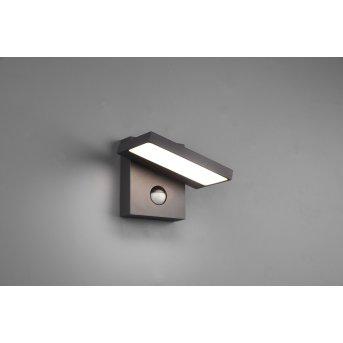 Trio Horton Applique da esterno LED Antracite, 1-Luce, Sensori di movimento