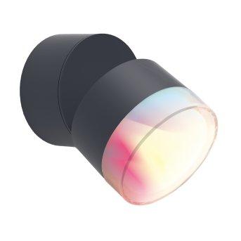 Lutec DROPSI Applique da esterno LED Antracite, 1-Luce, Cambia colore