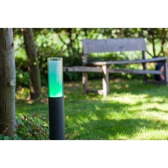 Lutec DROPA Lampioncino Segnapasso LED Antracite, 1-Luce, Cambia colore