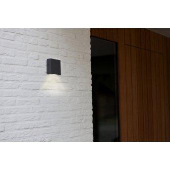 Lutec GEMINI Applique da esterno LED Antracite, 1-Luce