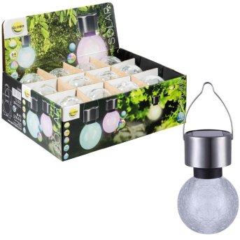 Globo Lampada solare da giardino LED Acciaio inox, 1-Luce, Cambia colore