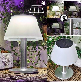 Alcudia Lampada solare LED Bianco, 1-Luce