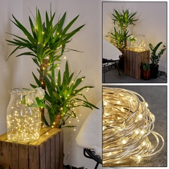 Pistoia Catena luminosa solare LED Bianco, 120-Luci