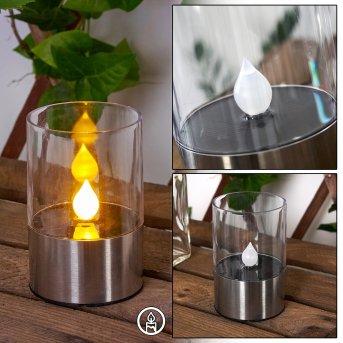 Wroclaw Lampada solare LED Argento, 1-Luce