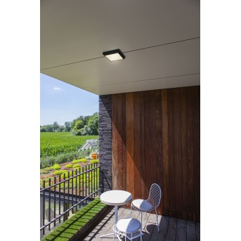 Lutec Helena Plafoniera da esterno LED Antracite, 1-Luce