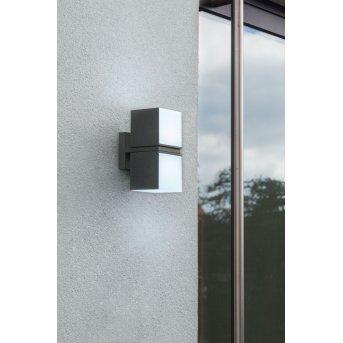Lutec CUBA Applique da esterno LED Antracite, 2-Luci