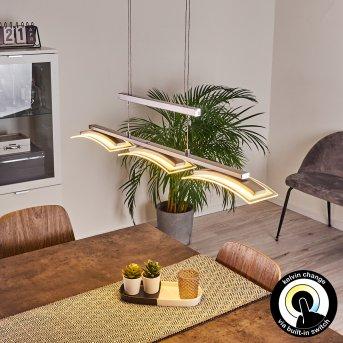 Bolonda Lampada a Sospensione LED Nichel opaco, 3-Luci
