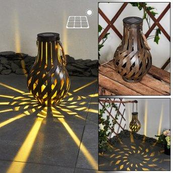 Soulé Lampada solare LED Marrone, 1-Luce