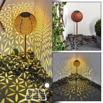 Samoao Lampada solare LED Nero, Ruggine, 1-Luce