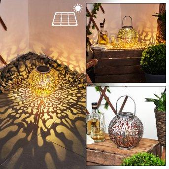 Moreland Lampada solare LED Nero, Argento, Ramato, 1-Luce