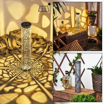Hankinson Lampada solare LED Nero, Argento, 1-Luce