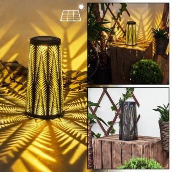Météo Lampada solare LED Nero, Oro, 1-Luce