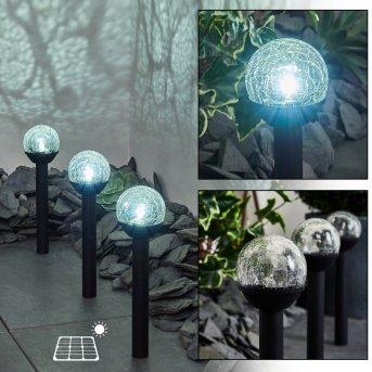 Colognole Set di 3 lampade solari LED Nero, 1-Luce