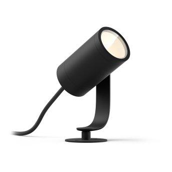 Philips Hue Ambiance White & Color WACA Lily Spot, set di base LED Nero, 1-Luce, Cambia colore
