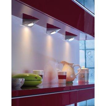 Leuchten Direkt THEO Illuminazione sottopensile LED Acciaio inox, 3-Luci