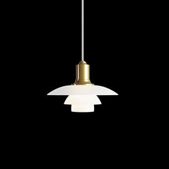 Louis Poulsen PH 2/1 Lampada a Sospensione Ottone, 1-Luce