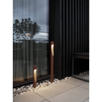 Louis Poulsen Flindt Lampioncino Segnapasso LED Ruggine, 1-Luce