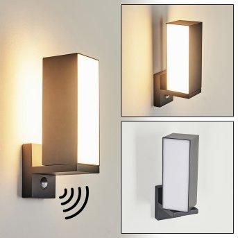 Swanek Applique da esterno LED Antracite, 1-Luce, Sensori di movimento